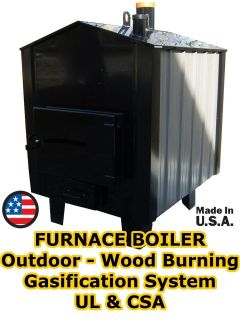 FURNACE BOILER Outdoor   Wood Burning   250,000 BTU   4,000 Sq Ft
