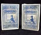 Washing Compound SOAP Boxes PEET BROS MFG Co ANTIQUE Laundry Detergent