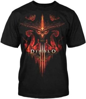 Diablo III 3 Burning New Blizzard Officially Licensed Adult T Shirt S
