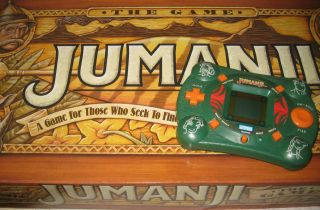 Jumanji The Game Vintage Board Game 1995 & Electronic Handheld