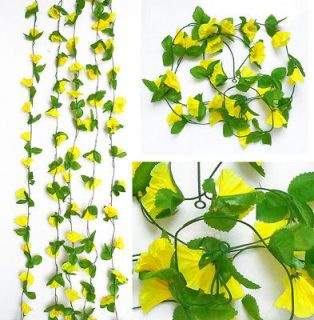 Morning Glory Vine Artificial Flower Hanging Wedding Garland Arch