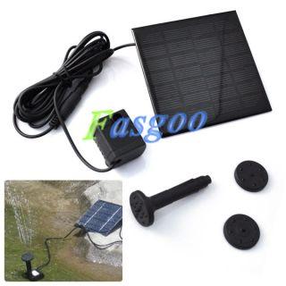 Pool Garden Pond Submersible Watering Solar Water Pump Power Panel Kit