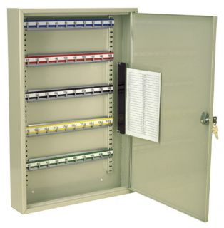 LARGE Steel Wall Mounted Key Storage Safety Cabinet 50 Key Capacity