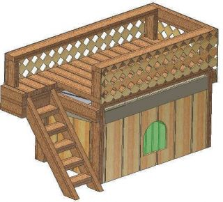 DOG HOUSE PLANS, 15 TOTAL, DOUBLE DECKER DOG HOUSE PLANS, 2 STORY
