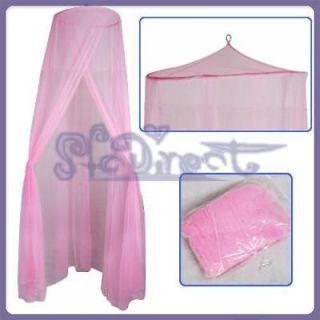 PINK MESH PRINCESS BED CANOPY MOSQUITO NET NEW