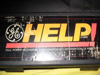 GE full power 40 channel 2 way emergency cb radio