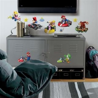 MARIO KART Wii WALL DECALS Game Room Decorations Stickers Decor