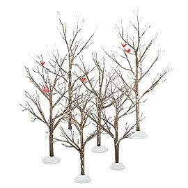Newly listed Dept 56 Snow Village Bare Branch Trees Set Of Six 52623