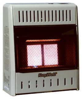 World KWP112 2 Plaque Infrared 10,000 BTU LP Gas Vent Free Wall Heater