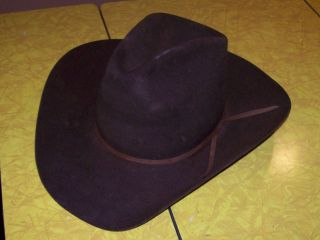 RESISTOL BROWN BEAVER 4xxxx COWBOY HAT 7 1/8 R SELF CONFORMING TALL
