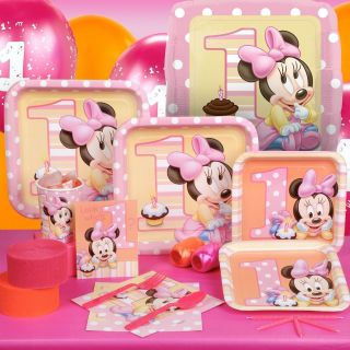 Minnies 1st Minnie Mouse Birthday Party Supplies, Favors   YOU PICK