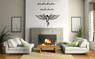 beautiful angel wings Wall Decor Vinyl Decal Sticker MURAL Interior