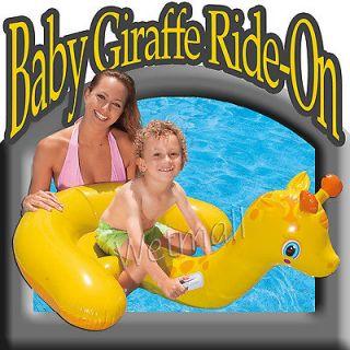 Intex Baby Giraffe Ride On Inflatable Kid Swimming Pool Float Tube