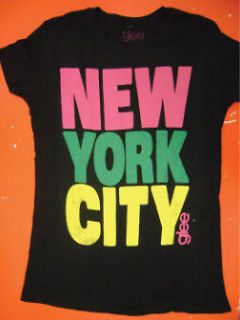 Mens Juniors Music TV Show As Seen On Glee Black New York City T Shirt
