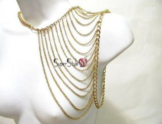 Layer Body Chain Shoulder Design Fashion Jewelry Necklace Belly Dance