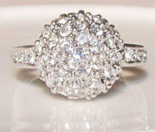 18K white gold plated, swarovski crystal , promise Ring