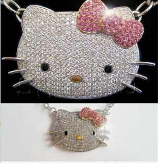 hello kitty bow necklace