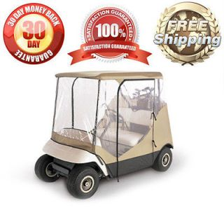 GOLF CLUB ROOF ENCLOSURE COVER FITS 2 SEATER GOLF CARTS  HIGH QUALITY