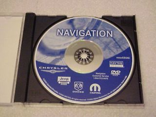 DODGE JEEP NAVIGATION DISC DVD CD 033AC NAV MAP DISK GPS NAVAGATION