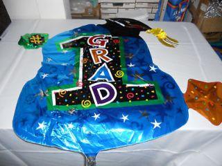 34 BALLOON #1 GRAD graduation PARTY gift CENTERPIECE