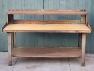 WORK BENCH TABLE TOOL SHOP UTILITY STEEL WOOD TOP HEAVY DUTY SHELF 72