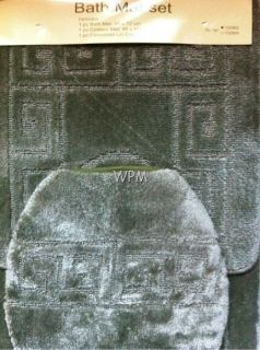 Piece BATHROOM rug set green bath rugs anti slip Mat