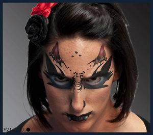 European Body Art Monster Design Face Paint Stencil Template Airbrush