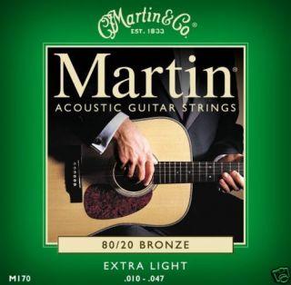 Martin M170 XLight Acoustic Guitar Strings 80/20 Bronze