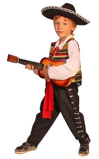 Mexican Mariachi Halloween costume kids Dress Up Halloween costume