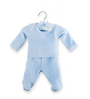 NWT Mud Pie Blue Velour Angel Wing 2 Pc Set Newborn 0 3 Months Boys