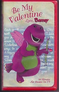 Barney   Be My Valentine   Love, Barney (VHS, 2000)