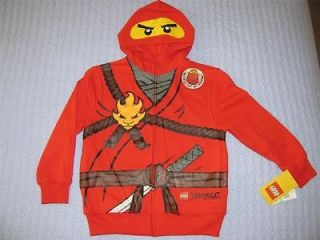 Lego Ninjago Red Ninja Kai Hoodie Halloween Costume Size 14 16 L Boys
