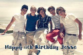 One Direction Boy Band on Beach Edible Image Cake Topper w/FREE