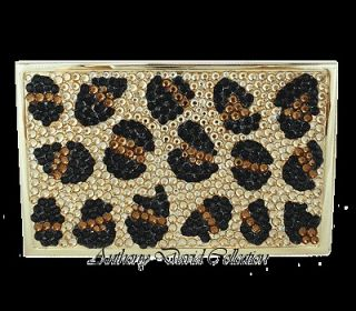 Ladies Crystal Business Card Case Holder with Swarovski Crystals