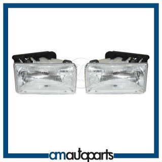 91 96 Dodge Dakota Pickup Truck Headlamps Headlights Left LH & Right