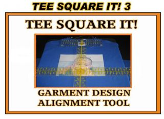 TEE SQUARE IT for heat press machines alignment tool