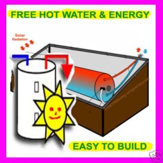 NEW,SOLAR HOT WATER HEATER PLANSFREE`HOT WATER FOREVER