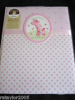 CARTERS Thank Heaven for Little GIRL Baby First Memory,Record Book