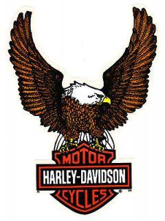 HARLEY DAVIDSON INSIDE WINDOW FLYING EAGLE BAR & SHIELD DECAL STICKERS