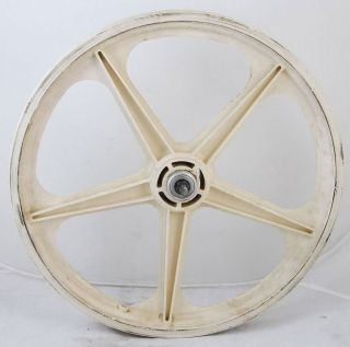 Used White 5 Spoke BMX Bicycle Bike Mag Front Wheel 20 Radical