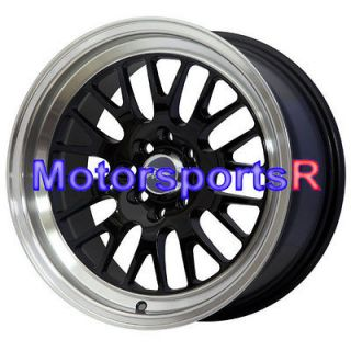 531 Black Wheels Rims Deep Dish 4x100 4x114.3 4x4.5 Mesh Old School