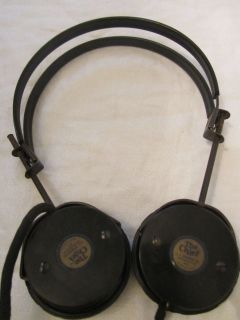 Vintage THE CHIEF Short Wave Radio Bakelite Headphones