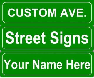 Custom Personalized Street Sign Metal 5x18