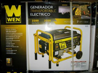 3500 watt 208cc 7 HP OHV 4 Cycle Gas Portable Generator With Wheel Kit
