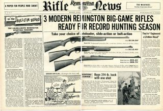 1957 Remington Rifle News 740 Woodsmaster 760 Gamemaster & 721 2 Page