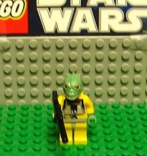 STAR WARS LEGO MINI FIGURE  MINI FIG   BOSSK WITH GUN     USED