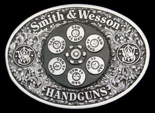 VINTAGE 1993 ***SMITH & WESSON*** 44 MAGNUM PISTOL CYLINDER BUCKLE