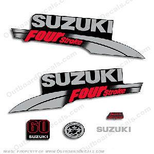 Suzuki DF60 Four Stroke Outboard Decal Kit   You choose hp DF 60 70 80