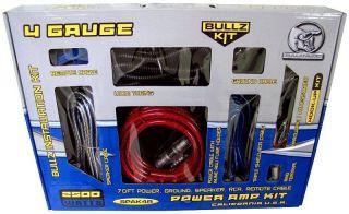 BULLZ AUDIO SPAK4R 4 Gauge Amplifier/Amp Wiring Kit