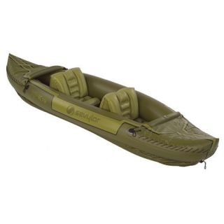 ! SEVYLOR Tahiti 2 Person Hunting Fishing Inflatable Kayak Boat Raft